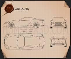2012 lexus lf lc lexus lf lc 2012 blueprint hum3d