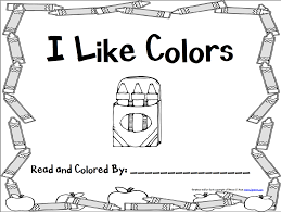 color book for preschool and books about colors coloring page