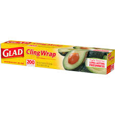 glad clingwrap plastic food wrap 200 sq ft roll walmart com