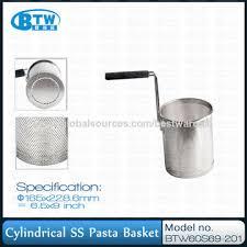 Pasta Basket Metal Cylindrical Pasta Stainless Steel Basket For Pasta Cooker