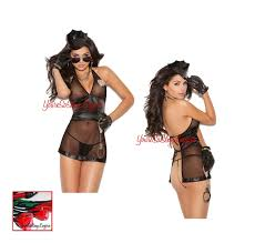costumes reenactment theater clothing shoes accessories naughty bedroom cop costume open back babydoll sheer police girl