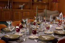 dinner 17 thanksgiving in union square featuring heath ceramics