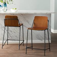 Modern Wood Bar Stool Modern Counter Stools For Kitchen Current Design Decor Homes