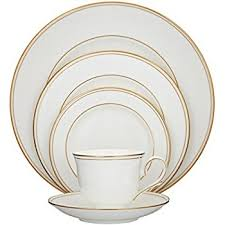 lenox eternal gold banded china 5 place