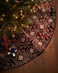 gold tree skirt sudha pennathur burgundy gold christmas tree skirt