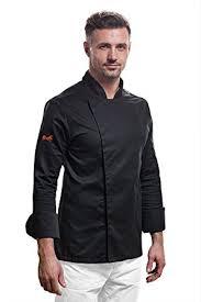veste de cuisine noir veste de cuisine noir homme professionnel manches longues uniforme