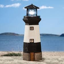 gifts decor solar powered outdoor garden lighthouse
