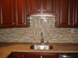 Stone Backsplashes For Kitchens by Glass And Stone Backsplash With Accent New Jersey Custom Tile