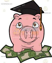graduation piggy bank a piggy bank for college savings college savings and money clipart
