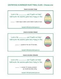 easter egg hunt ideas free easter egg hunt clues printable easter ideas pinterest