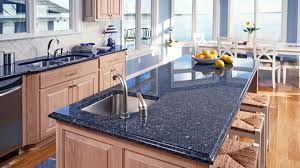 beautiful blue pearl granite countertop with cherry kitchen