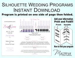 sle wedding programs templates free beautiful tri fold wedding program templates ideas styles ideas