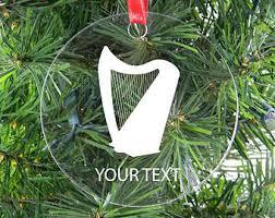 harp ornament etsy