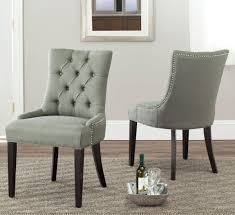 Tufted Dining Chair Dining Chairs Awesome Linen Tufted Dining Chairs Pictures