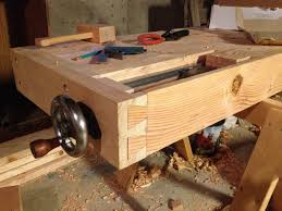 Woodworking Bench Plans Uk by How To Make Workbench Vise Best House Design