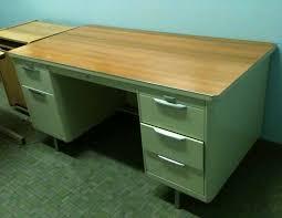 Commercial Desk Mid Century Ivory Steelcase Tanker Desk Williams Design