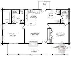 vicksburg log home plan by southland log homes