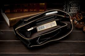 designer handy yinte business wallet designer zipper leather