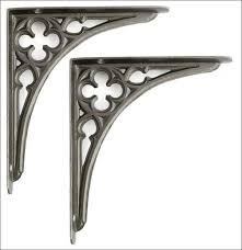 Wood Shelf Brackets Decorative Furniture Magnificent Decorative Iron Brackets Shelf Mounting