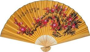 oriental fans wall decor chinese wall fans lucky blossoms