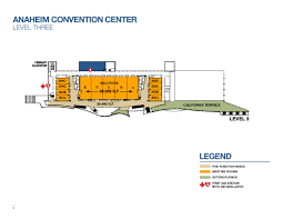 Orange County Convention Center Floor Plan by Third Level Capacities Anaheim Ca Official Website