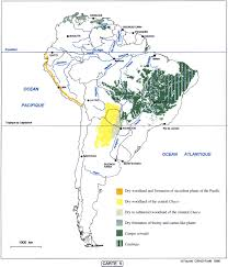 Map Of South And Central America South America Online Vegetation And Plant Distribution Maps