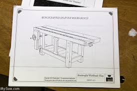 Woodworking Bench Plans Roubo by Workbench Two Day 1 Mysaw