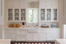 White Kitchen Cabinets With Glass Doors Awesome Kitchen Cabinets With Glass Doors D55 In Modern Interior