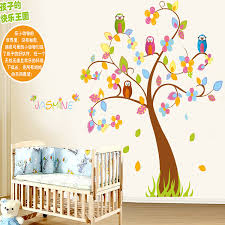 Aliexpresscom  Buy Cartoon Colorful Tree Owls DIY Removable - Stickers for kids room