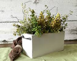 rustic wooden planter centerpiece box rustic home decor wood