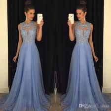 lavender 2016 prom dresses lace applique beads 2015 formal long