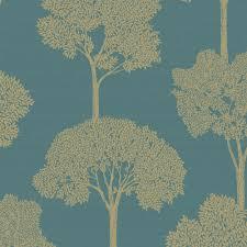 holden ambleside tree pattern wallpaper gold floral leaf motif 65315
