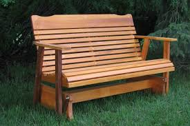 cedar glider bench from amish folk in western montana front