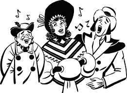 christmas carolers clipart of a of christmas carolers