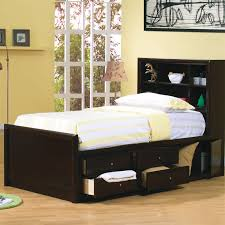 Full Size Bed With Bookcase Headboard Full Platform Bed Bookcase Headboard With Black Color And Storage