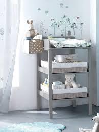 table chambre enfant lot de 2 paniers rangement pour table à langer blanc gris vertbaudet
