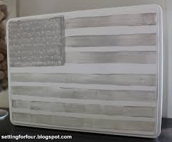 How To Paint American Flag American Flag Painted Tea Tin Patriotic Home Decor Setting For