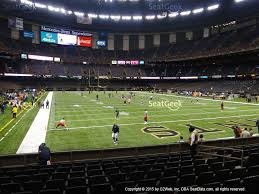 mercedes superdome mercedes superdome section 102 seat views seatgeek