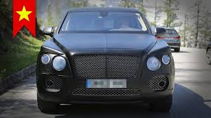 2016 bentley falcon 2016 bentley suv spy shots four led headlight youtube