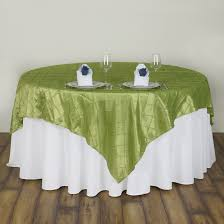wholesale wedding linens 15 pcs 72x72 square pintuck table overlays wedding linens