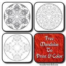 amind free printable mandalas coloring relaxing meditation