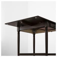 Ikea Drop Leaf Table Ingatorp Drop Leaf Table Black Brown 59 88 117x78 Cm Ikea