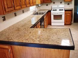 Tiled Kitchen Worktops - kitchen fancy stone tile kitchen countertops tiles countertop