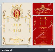 menu card templates indian wedding menu card templates gold stock vector 560920369