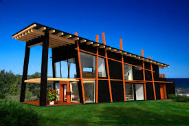 prefab house contemporary wooden frame glass fantasy