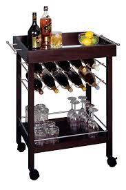 bar cart mirror top wine rack decoration