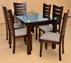 Glass And Wood Dining Tables Decoration Wood Dining Table With Glass Top Stylish Design