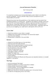 article cover letter sle cover letter for paper in journal image