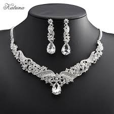 bride necklace images New european style bride necklace earrings imitation jewelry set jpg