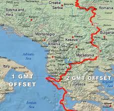 utc zone map albania zone map